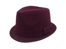 凯维帽业-女款高端红羊毛定型礼帽定做-DW016