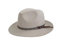 凯维帽业-米白色女士女款定型羊毛材质定做 -DW019