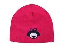 凯维帽业-女童红色冬天针织帽定做-ZM009