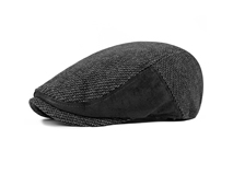 黑白视频体育直播-羊毛男士急帽鸭舌帽-EW001