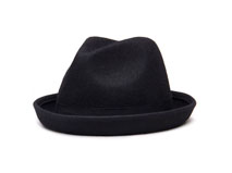 黑白视频体育直播-100%羊毛纯色定型礼帽定做-DW023