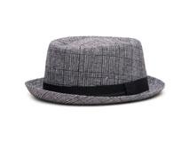 凯维帽业-新款条纹绅士帽礼帽定做-DM024