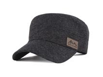 凯维帽业-男士羊毛军帽平顶帽子定做-JW018