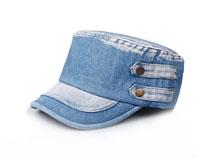凯维帽业-新品洗水军帽平顶帽定做-JM019