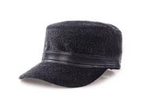 凯维帽业-人造毛冬款军帽平顶帽定做-JH021