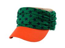 凯维帽业-时尚星星撞色平顶帽 军帽定做-JM023
