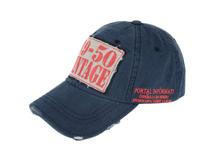 凯维帽业-洗水做旧绣花复古棒球帽 -BM022