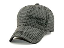 凯维帽业-新款车线格子棒球帽定做- BM039