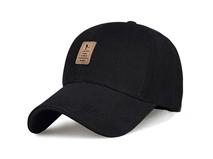 凯维帽业-简约时尚男女棒球帽黑色定做-BJ040