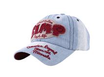 凯维帽业-2015女款牛仔水洗六页帽定做-BM047