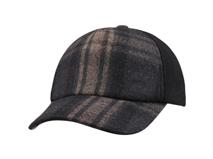 凯维帽业-新款羊毛格子棒球帽定做-BW049