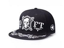 凯维帽业-嘻哈骷髅头平板帽定做-PJ009