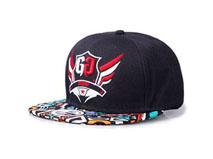 凯维帽业-新款炫彩嘻哈皮质平沿帽定做-PJ010