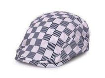 凯维帽业-格子条纹混搭急帽鸭舌帽定做 -EM012