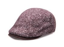 凯维帽业-毛呢布冬款保暖鸭舌帽定做-EW014