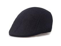 凯维帽业-纯色 麦呢鸭舌帽保暖款定做-EW017