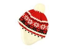 凯维帽业-儿童 女士护耳撞色针织帽 -ZM017