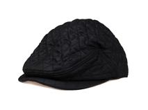 凯维帽业-纯色时尚菱格鸭舌帽 -ET027