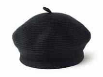 凯维帽业-新款螺纹羊毛贝雷帽定做-FM003