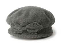 凯维帽业-深灰羊毛贝雷帽定做 -FW009