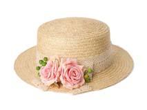 凯维帽业-女士玫瑰花蕾丝草帽定做-CZ017