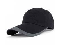 凯维帽业-黑色男女驳接运动帽定做-HM012