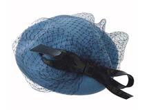 凯维帽业-复古网纱淑女贝雷帽定做-FW013
