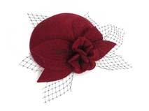 凯维帽业-复古花朵网纱贝雷帽定做-FW014