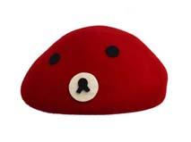 凯维帽业-女士羊毛可爱贝雷帽定做-FW015