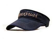 凯维帽业-金线绣空顶帽定做牛仔布-KM011