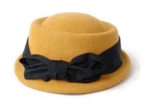 黑白视频体育直播-女款时尚定型毡帽定做 -DW027