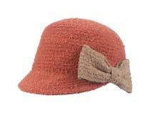 凯维帽业-蝴蝶结针织时尚帽定做-ST016