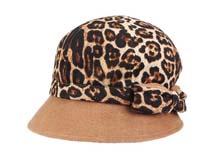 凯维帽业-时尚豹纹时装帽 -ST017