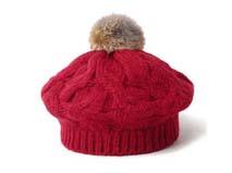 凯维帽业-大麻花红色针织帽定做-ZM031