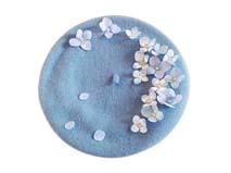 凯维帽业-小清新小花朵贝雷帽定做-FW025