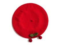 凯维帽业-水果樱桃羊毛贝雷帽定做 -FW028