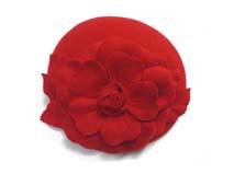 凯维帽业-盛放花朵羊毛贝雷帽定做 -FW029