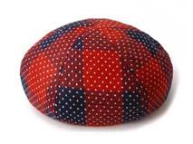 凯维帽业-超时尚特别 红色格子小点点八页贝雷帽定做-FM041