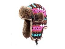 凯维帽业-新款撞色菱格雷锋帽定做-LF016