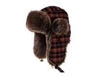 凯维帽业-冬天保暖格子雷锋帽定做-LF017