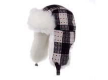 凯维帽业-时尚点点格子雷锋帽定做-LF022
