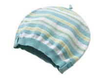 黑白视频体育直播-条纹儿童针织婴儿帽儿童帽定做-AM005
