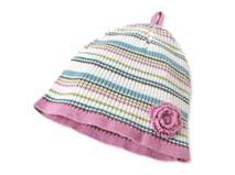 凯维帽业-女童婴儿条纹婴儿针织帽-AM008