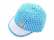 凯维帽业-格子布婴儿鸭舌帽定制-AM016