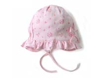凯维帽业-荷叶边婴儿帽定做 -AM038