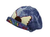 凯维帽业-牛仔儿童帽子毛巾绣加工定做 -RM005