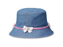 凯维帽业-儿童蝴蝶结小边帽水桶帽牛仔布 定做-RM008