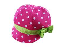 凯维帽业-女童时尚粉红点点瓜帽-RT020