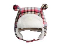 凯维帽业-儿童格子耳朵可爱雷锋帽定做 -RM022