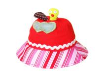 凯维帽业-女孩可爱撞色拼接边帽定做-RM023